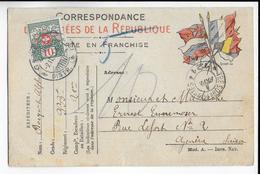 1915 - CARTE FM Du SP 121 Avec TAXE SUISSE => GENEVE - Marcophilie (Lettres)