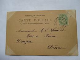 CONVOYEUR   PRIVAS  A  LIVRON     -      COUPLE        TTB - Marcophilie (Lettres)