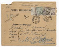 1915 - ENVELOPPE FM Du SP 13 => MARSEILLE Avec TAXE ANNULEE ! Puis REAPPOSEE ! - Marcophilie (Lettres)