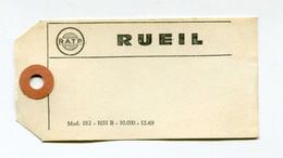 """Etiquette Américaine 1969 """"RATP Rueil"""" Ateliers De Rueil-Malmaison - RER - Train - Chemin De Fer - Autres"""