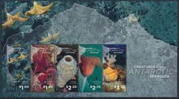 ROSS DEPENDENCY 2016 - Creatures Of The Antarctic Sea Floor Miniature Sheet** - Neufs