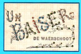 WAERSCHOOT ( WAARSCHOOT ) Oude Ansichtkaart ( 1906 ) Met Briljante Letters - Un Baiser De ...2 Scans - Waarschoot