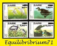 1282/1285**  Centenaire De / Honderd Jaar - J.J Audubon - A Buzin - ZAIRE - Storchenvögel