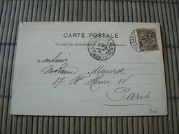 D113/ CARTE POSTALE MONACO POUR PARIS - Collections