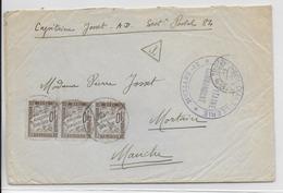 1915 - ENVELOPPE FM (NON ECRIT) REFUSEE !! => TAXE Du SP 84 => MORTAIN (MANCHE) - Marcophilie (Lettres)