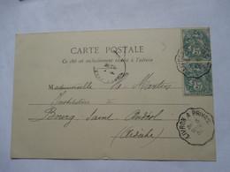 CONVOYEUR   PRIVAS  A  LIVRON     -    LA VOULTE  ....          TTB - Marcophilie (Lettres)