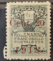 SAN MARINO 1918 - MLH - Sc# 80 - 20c - Unused Stamps