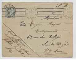 1916 - ENVELOPPE FM REFUSEE !! => TAXE Du SP 126 EXPEDIEE De PARIS ! => ST DIZIER (HAUTE MARNE) - Marcophilie (Lettres)