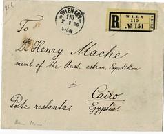 1900, Währ. Mischfr. Nach Ägypten , Mitglied Von Expedition Nach Indien !  , A2915 - 1850-1918 Empire