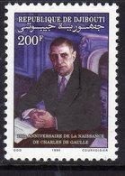Djibouti N° 670 XX Centenaire De La Naissance De Charles De Gaulle, Sans Charnière TB - Djibouti (1977-...)