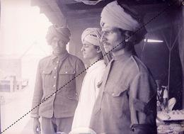 Plaque Photo Militaire Régiment Indien à Rouen Troupes Britanniques Lancier Guerre 14-18 WWI - Guerre, Militaire