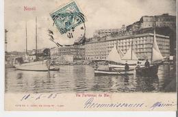 ITALIE - NAPOLI - NAPLES. CPA Voyagée En 1905 Via Paternope Da Mare - Napoli (Napels)