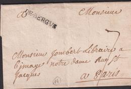 LETTRE DU NORD AVEC GRIFFE DE BERGUE LAC 1739 TB - 1701-1800: Precursori XVIII