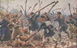 Preußische Landwehr Bei Dennewitz 1813, Völkerschlacht Leipzig, Postkarte, Militär - Guerres - Autres