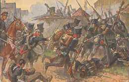 Brigade Horn In Der Schlacht Bei Großgörschen 1813, Völkerschlacht Leipzig, Postkarte, Militär - Guerres - Autres