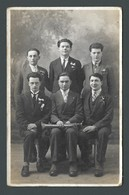 Une Classe De Conscrits Militaria - Photographe BILLON à CHARLIEU (42) Carte PHOTO CPA - Da Identificare