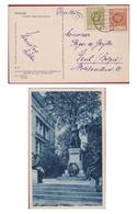 Old Postcard Polen Poland Polska Poznan Pomnik Adama Mickiewicza 1, 5 Grosz Groszy Stamps Stamp - Lettres & Documents