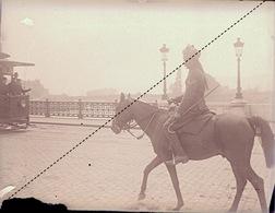 Plaque Photo Militaire Indien British Britannique Lancier à Rouen Guerre 14-18 WWI - Guerre, Militaire
