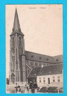 CPA ZELZAETE ZELZATE :  L'Eglise - De Kerk - Circulée - Hamerlinck En De Graeve - 2 Scans - Zelzate