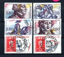 B166 France N° 2700 à 2703 + 2709 + 2710  Avec Belle Oblitération Ronde - France