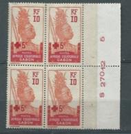 Gabon - Yvert N° 81 ** / * Bloc De 4 Bord De Feuille ( Les 2 Timbres Du Haut Sont * -  Aab 24501 - Gabon (1886-1936)