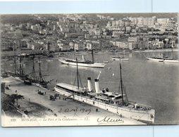 06 MONACO - Le Port Et La Condamine - Bâteau Publicité Au Dos Magasin à Rouen Rue Haranguerie       * - La Condamine