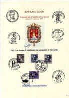 Hoja Commemorativa De Centenario De Cervantes De Exfilna 2005 - Hojas Conmemorativas