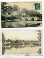 24 PERIGUEUX 2 Cartes Dont CARTE PHOTO Pont Saint Georges 1905 Et  Vieux Pont Cassé Castel Fadèze     D16 2017 - Périgueux