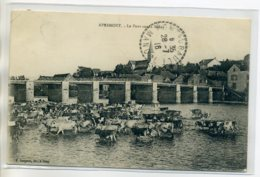 70 APREMONT Les Vaches Au Bain Pont Sur La Saone 1916 écrite Timbrée  Edit Bergeret Gray    D16 2017 - France