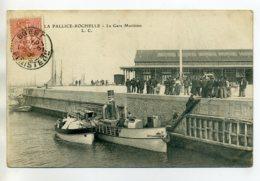 17 LA PALLICE ROCHELLE Petit Bateau Automobile Quai Gare Maritime 1906 Timb     /D17-2017 - La Rochelle