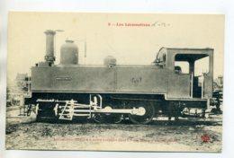 LES LOCOMOTIVES  9-  Pour Les Mines D'ANICHE Locomotive Tender 6 Roues Accouplées      /D18-2017 - Chemins De Fer