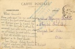 """EURE """" HOPITAL AUXILIAIRE N°22 CHATEAU DE RADEPONT FLEURY SUR ANDELLE """" Sur CP Du Chateau - NON RÉPERTORIÉ - Marcofilia (sobres)"""