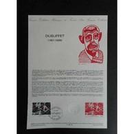 Document Officiel La Poste - Dubuffet - Documents Of Postal Services
