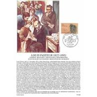 Encart Sur Papier Glacé - Louis Pasteur (1822-1895) - 1/06/1985 Paris - Documents Of Postal Services