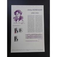 Document Officiel La Poste - Arthur Honegger - Documents Of Postal Services