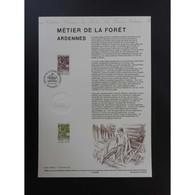 Document Officiel La Poste - Métiers De La Forêt. Ardennes - Documenten Van De Post