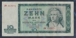 DDR Rosenbg: 355a, KN 6stellig, Davor Zwei Buchstaben Gebraucht (III) 1964 10 Mark (9398354 - [ 6] 1949-1990 : RDA - Rep. Dem. Alemana