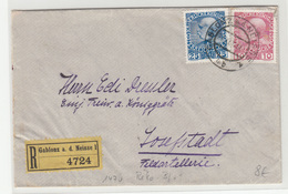 Austria Letter Cover Posted Registered 191? Gablonz A. D. Neisse To Josefstadt B200120 - Briefe U. Dokumente