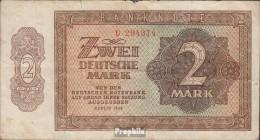 DDR Rosenbg: 341a, KN 6stellig, Davor Ein Buchstabe Gebraucht (III) 1948 2 Deutsche Mark (9398334 - [ 6] 1949-1990 : RDA - Rep. Dem. Tedesca
