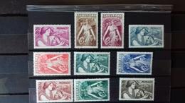 MONACO  N° 215/224** - Unused Stamps