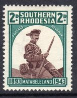 Southern Rhodesia 1943 50th Anniversary Of Matabeleland Occupation, Hinged Mint, SG 61 (BA) - Southern Rhodesia (...-1964)
