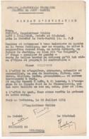 Afrique Equatoriale Française. Prévôté De Port-Gentil. Invitation Du 25 Juillet 1953 Pour Une Soirée Le 8 Août 1953 - Documents Historiques