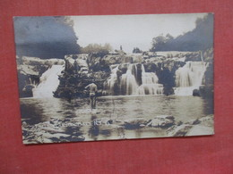 RPPC Falls At Indian Falls  Tear On Bottom   New York     Ref  3848 - NY - New York