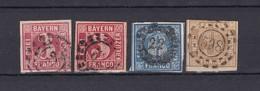 Bayern - 1862 - Michel Nr. 9/11 - Gest. - 50 Euro - Bayern