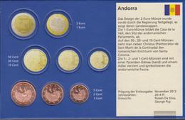 Andorra AND1- 3 2018 Stgl./unzirkuliert Stgl./unzirkuliert 2018 Kursmünzen 1, 2 And 5 Cent - Andorra