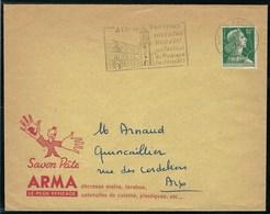 France - Thématique Marianne De Muller - N° 1011 A Sur Lettre - TTB - 1958 - Publicité Savon Pâte Arma - - Francia