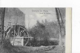 """1 Cpa Environs  De Mons : Moulin De Casteau """"roue à Aube Bien Visible"""" (déchirure Sur 2 Cm En Haut) - Mons"""