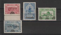Turquie 1920 Anniversaire Du Sultan 595-598 4 Val ** MNH - 1858-1921 Empire Ottoman
