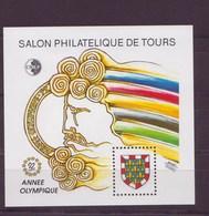 """France Bloc Souvenir  1992 Salon Philatelique DeTOURS """"année Olympique - Blocs Souvenir"""