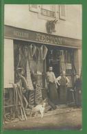 53 - Mayenne - Laval ? - Rare Et Belle Carte Photo De La Sellerie Bourrellerie Recton - Bourrellier - Devanture - Commer - Laval